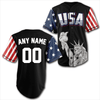 Shirt Custom Black USA Baseball Jersey