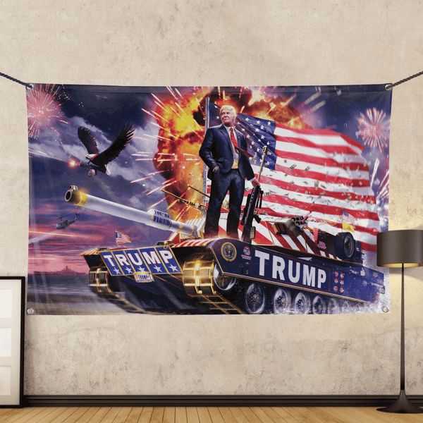 Donald Trump - Gold Plated - Wall Flag