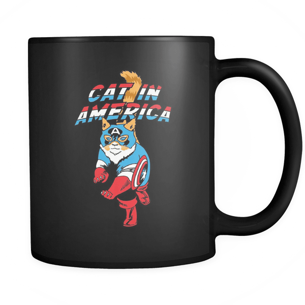 Cat In America - Coffee Mug