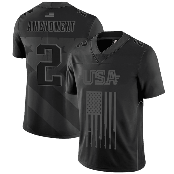 Team USA 2nd Amendment Football Jersey Blackout Edition