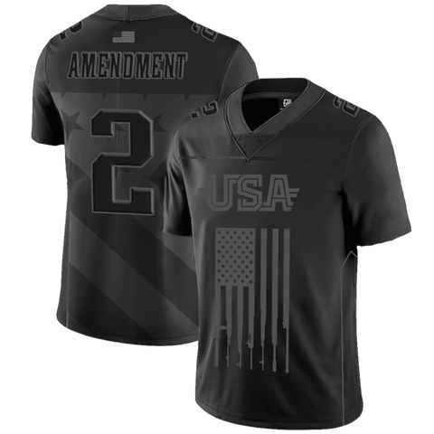 f73189975db Team USA 2nd Amendment Football Jersey Blackout Edition