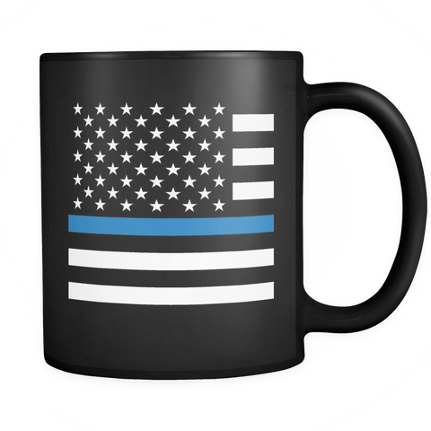 Police - Thin Blue Line Flag - Coffee Mug