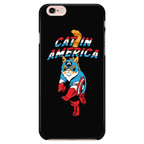 Cat In America - Phone Case