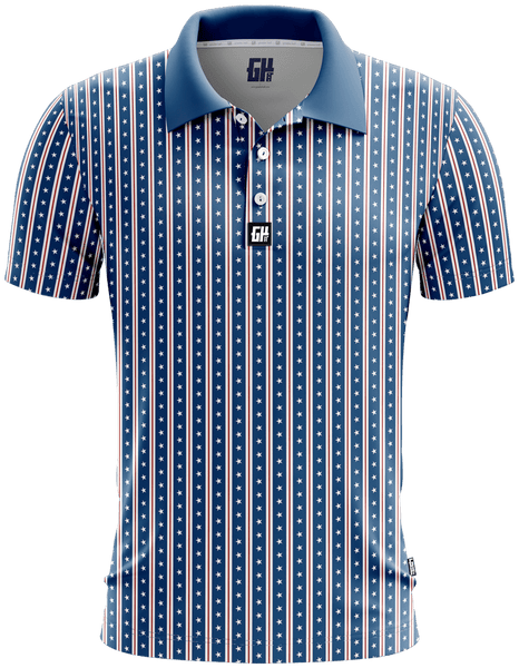 America Stars and Straps Golf Polo
