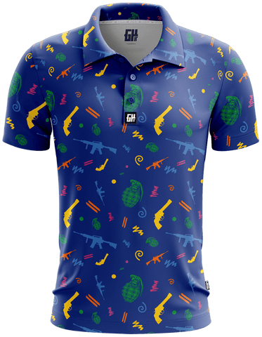 Retro Pew Golf Polo