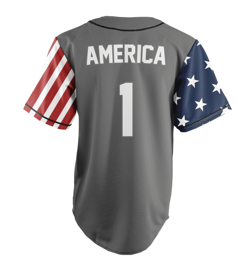 ab7154265 Limited Edition Grey America  1 Jersey
