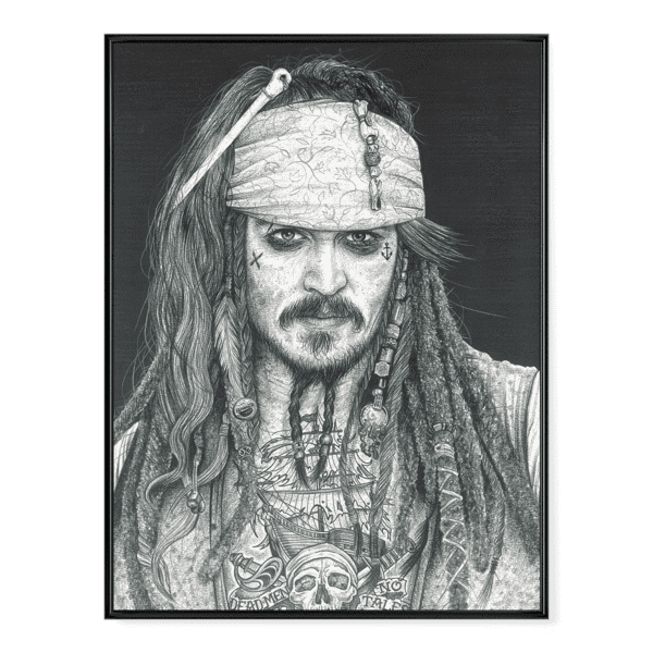 INKED Captain Jack Sparrow - Poster