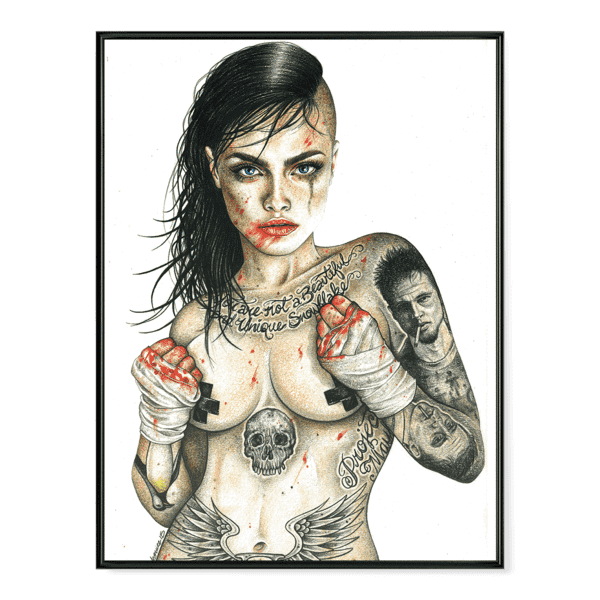 INKED Fight Club Girl - Poster
