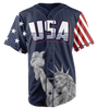 Limited Edition Blue America #1 Jersey - Keep America American
