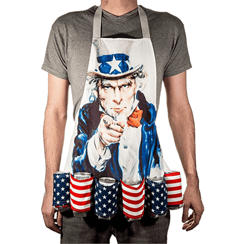 Uncle Sam Beer Belt Apron
