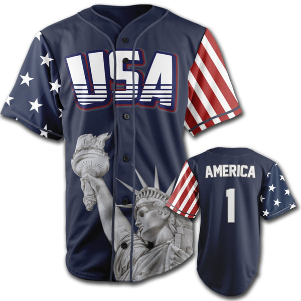 Limited Edition Blue America #1 Jersey