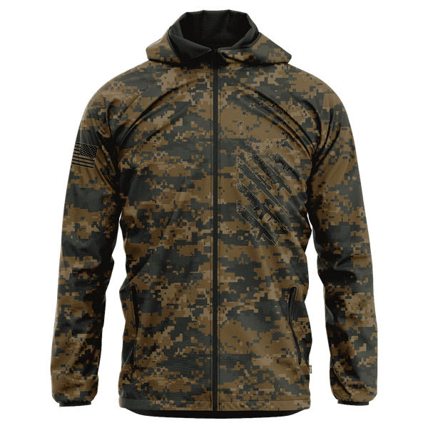 Woodland Digital Camo We The People Rain Jacket
