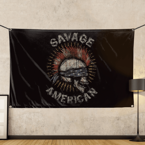 Savage American - Wall Flag