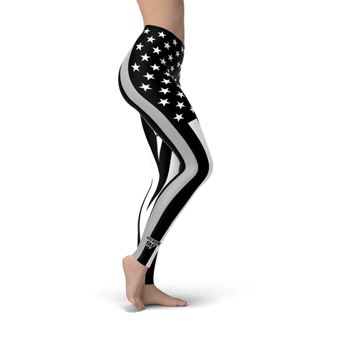 Thin Silver Line Leggings