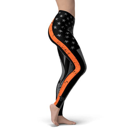 Thin Orange Line Leggings