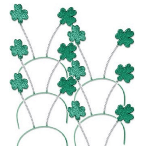 SPD - Green Shamrock Head Boppers Hats (Set 6 )