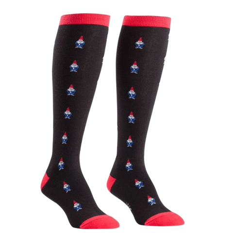 Women's Knee High Holiday Gnome Socks