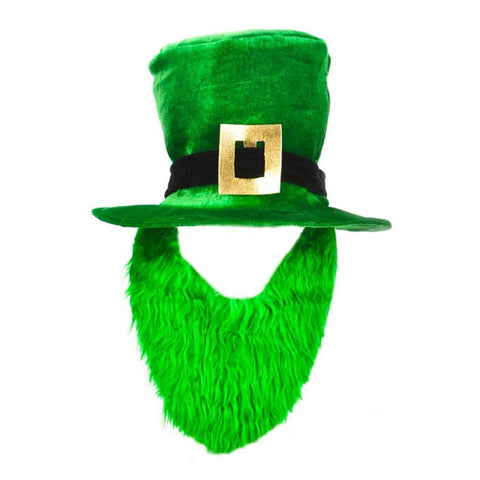 SPD - Costume Green Leprechaun Hat And Beard