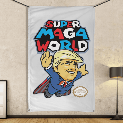 Super MAGA World (parody) - Wall Flag
