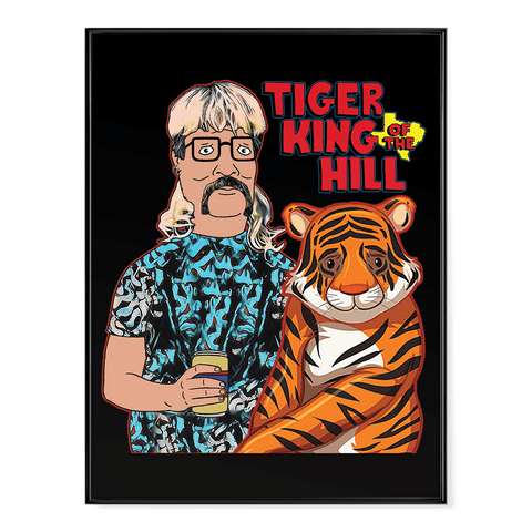Tiger King of the Hill V1 - Poster