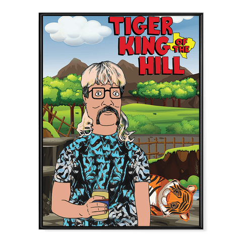 Tiger King of the Hill V2 - Poster
