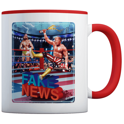 Trump Hogan Fake News - Coffee Mug