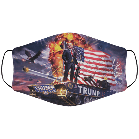 Trump Tank Face Cover