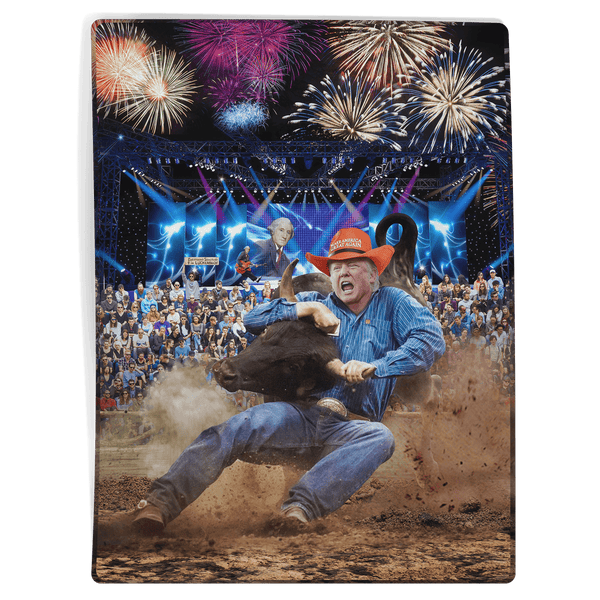 Trump Rodeo - George Washington - Blanket