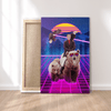 Canvas Trump on a Bear - Canvas