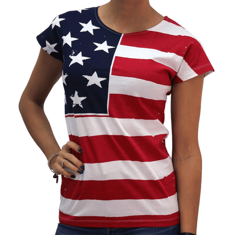 USA Flag Junior Cut Shirt