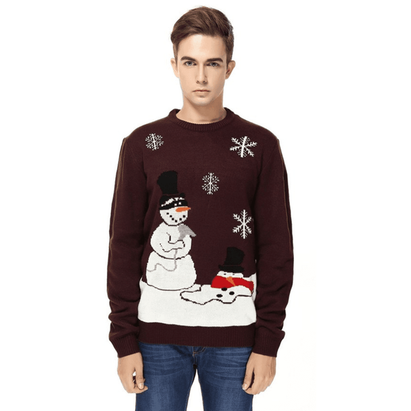 8e1a3be2430 Snowman Meltdown Ugly Christmas Sweater