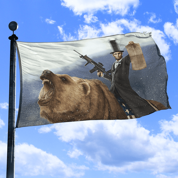 Abe Lincoln The Emancipator - Flag