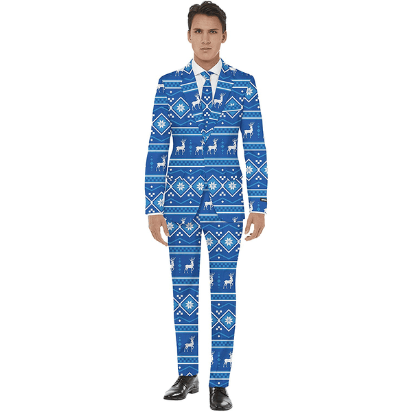 Blue Snow Christmas Suit
