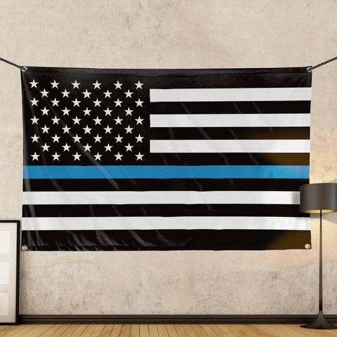 Thin Blue Line - Wall Flag