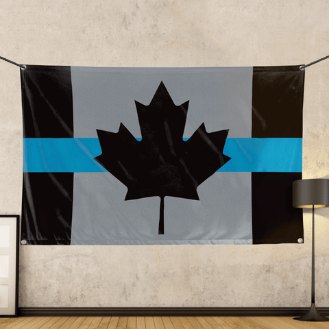 Canadian Blue Line - Wall Flag