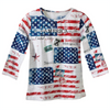 Patriotic American 3/4 Sleeve Top