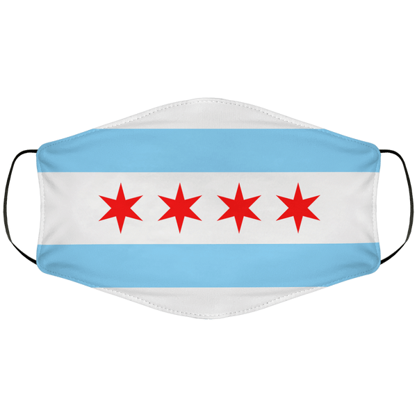 Chicago Flag Face Cover
