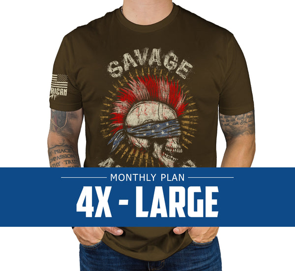Mens 4XL - Monthly