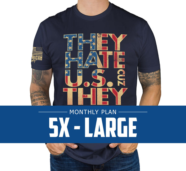 Mens 5XL - Monthly