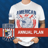 Annual Membership Club AAF Shirt of the Month: Annual Plan