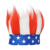 Patriotic Red, White, and Blue Headband Wig