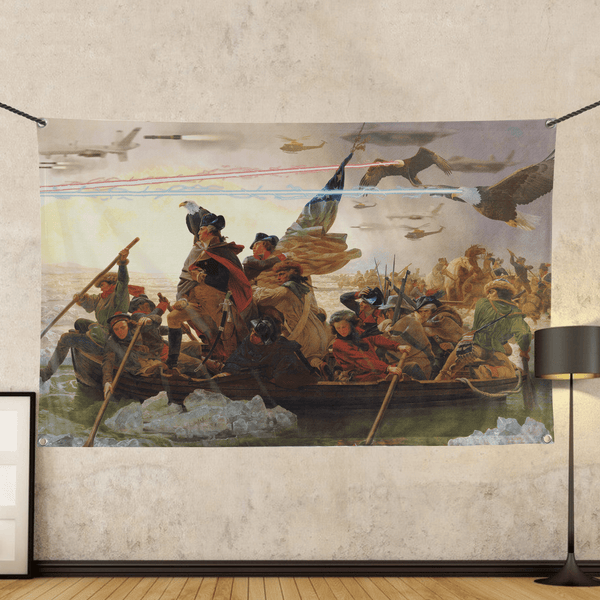 Crossing The Delaware - Wall Flag
