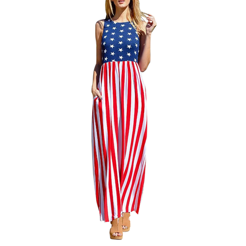 Stars and Stripes Summer Dress