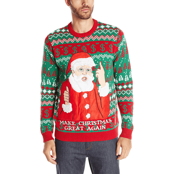 Trump Christmas Sweater.Men S Santa Trump Maga Ugly Christmas Sweater
