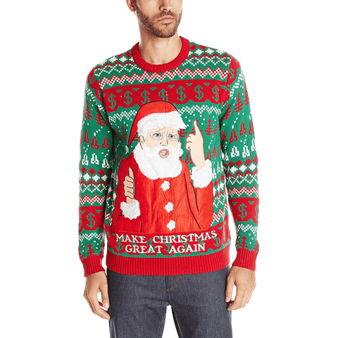 Men's Santa Trump MAGA Ugly Christmas Sweater