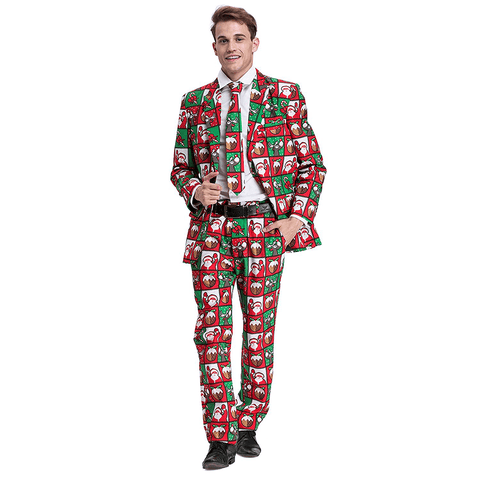 Festive Santa and Rudolph Christmas Suit