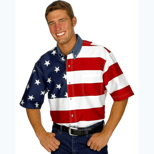 Flag Print Short Sleeves