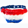Red White and Blue Faux Fur Fanny Pack