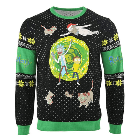 Rick and Morty Portal UNISEX Christmas Sweater