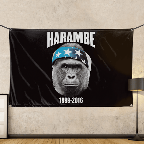 Harambe 1999-2016 - Wall Flag